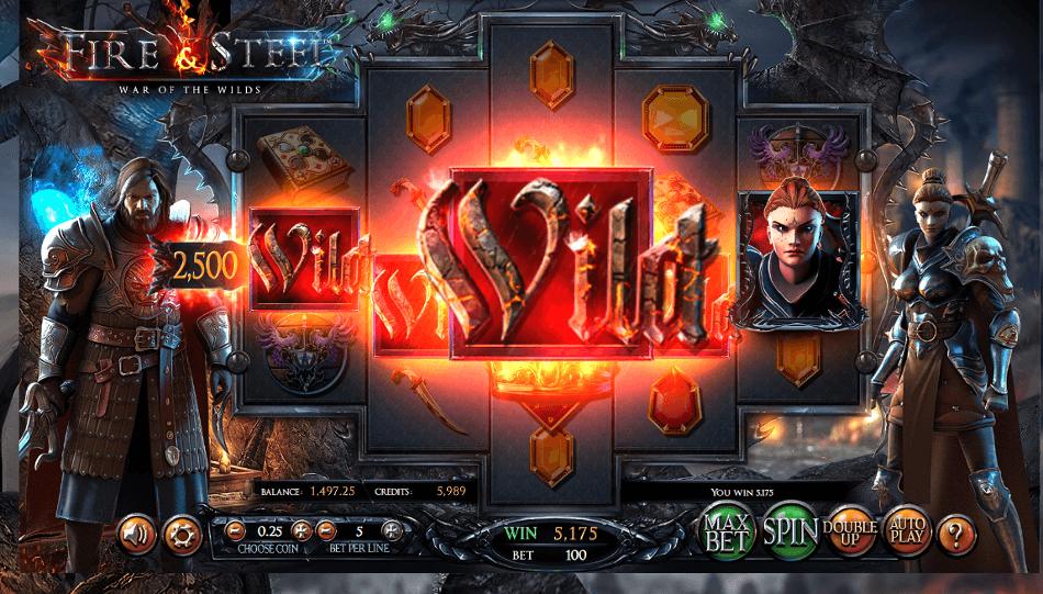 Fire & Steel grafički interfejs igre