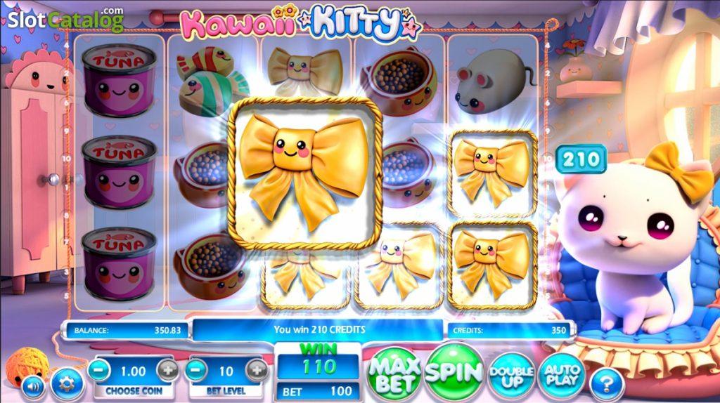 Kawaii Kitty grafički interfejs igre