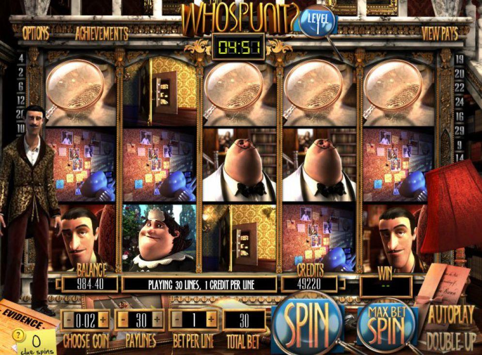 Who Spun It? grafički interfejs igre