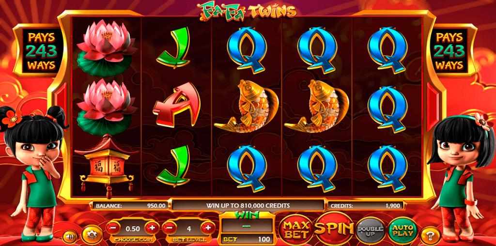 Fa-Fa Twins grafički interfejs igre
