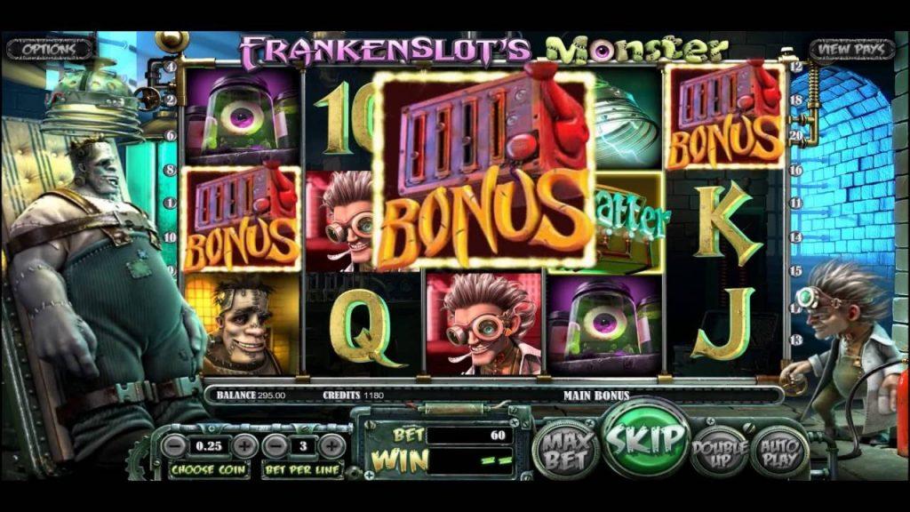 Frankenslot grafički interfejs igre
