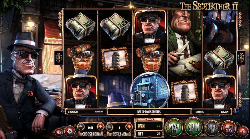 The Slotfather II grafički interfejs igre